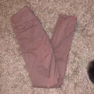 American Eagle Jeans Mauve Jeggings